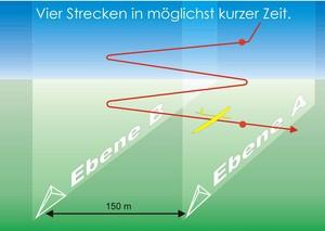 F3B-C - Die Speedflugaufgabe skizziert
